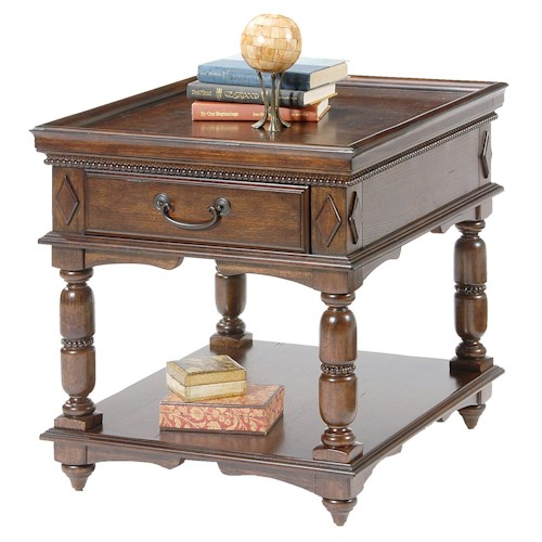 Vendor 5349 495 Occasional Rectangular End Table with Drawer