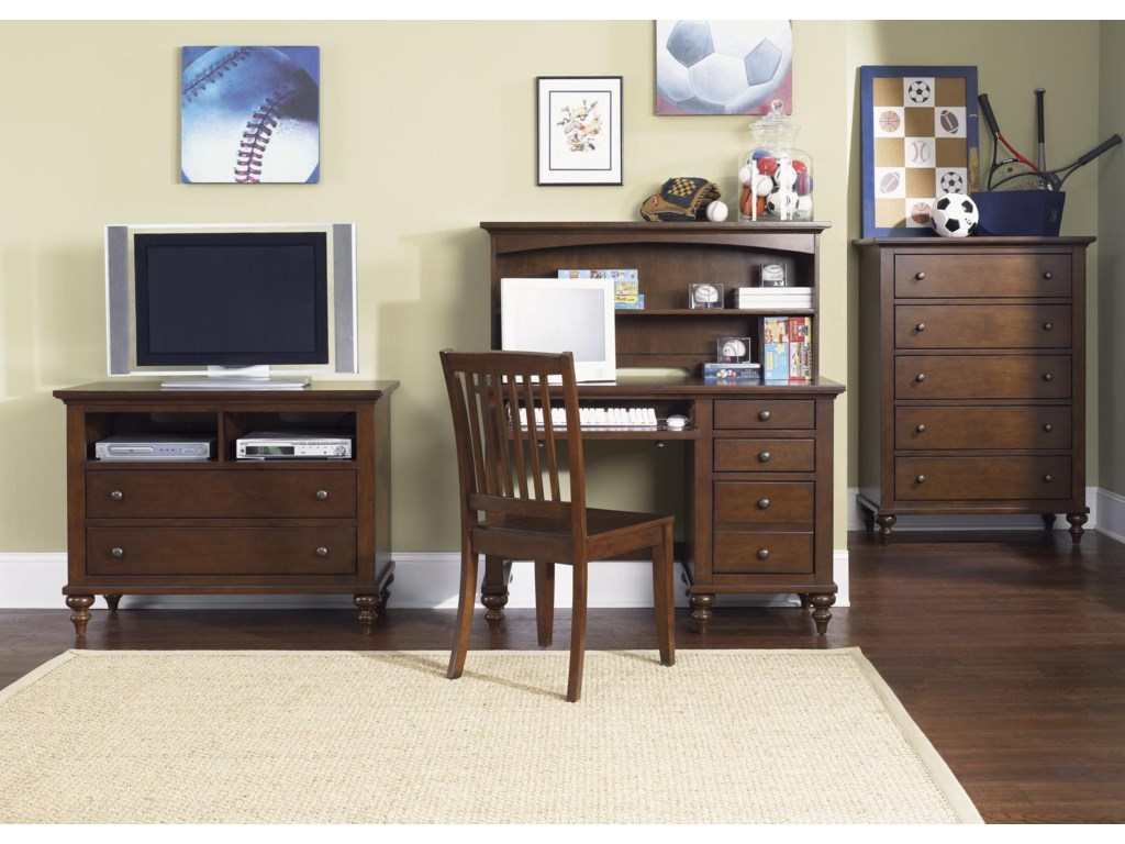 Shown with Desk, Hutch, Side Chair, and Chest