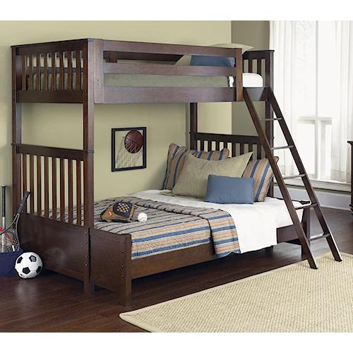 Vendor 5349 Abbott Ridge Youth Bedroom Twin Over Twin Bunkbed