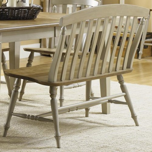 Liberty Furniture Al Fresco Two Tone Slat Back Bench