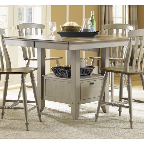 Liberty Furniture Al Fresco Gathering Table with Storage