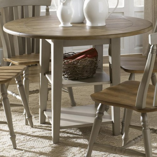 Liberty Furniture Al Fresco Round Drop-Leaf Dining Leg Table
