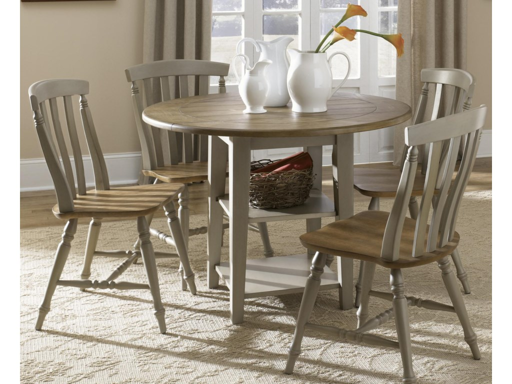 Shown with Slat Back Side Chairs