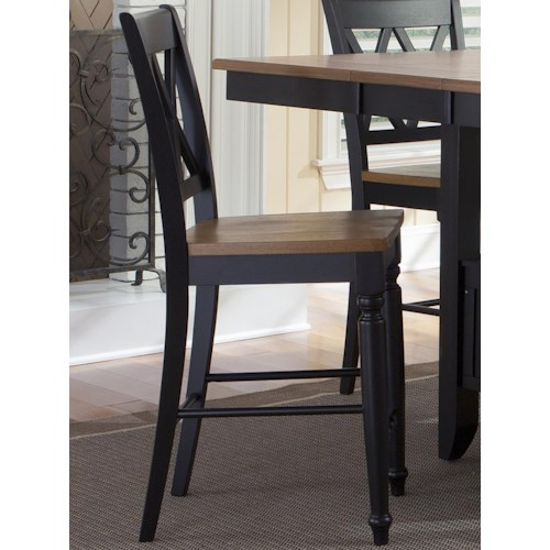 Liberty Furniture Al Fresco II Counter Chair with Double X-Back