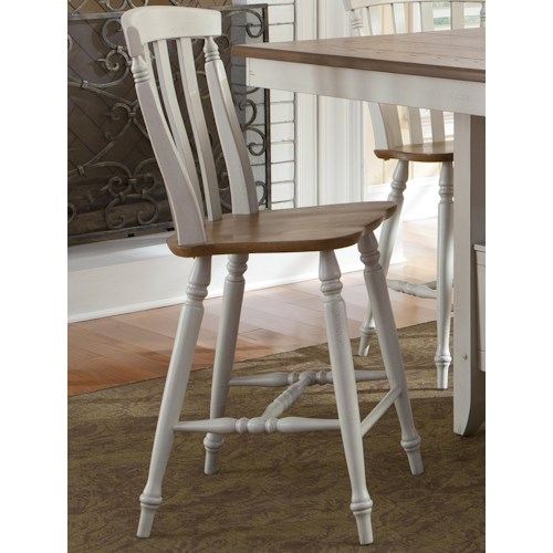 Liberty Furniture Al Fresco III Counter Height Chair with Slat Back