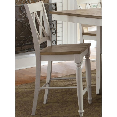 Vendor 5349 Al Fresco III Counter Chair with Double X-Back