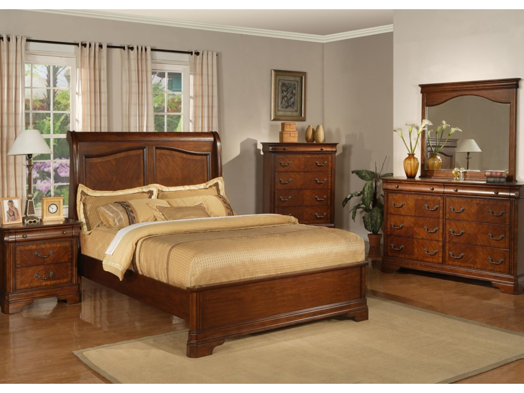 Shown with Nightstand, Chest and Dresser with Mirror