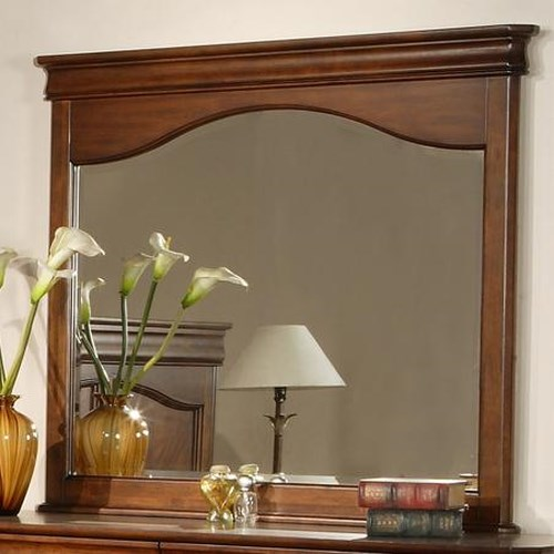 Vendor 5349 Alexandria Traditional Landscape Mirror with Framed Top
