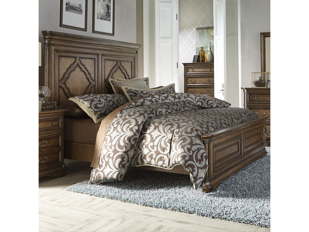 Liberty Bedroom Furniture Liberty Furniture Amelia Traditional King Panel Bed With Heavy