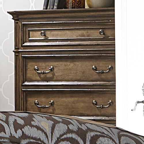 Liberty Furniture Amelia Traditional 5-Drawer Chest of Drawers with Light Distressing