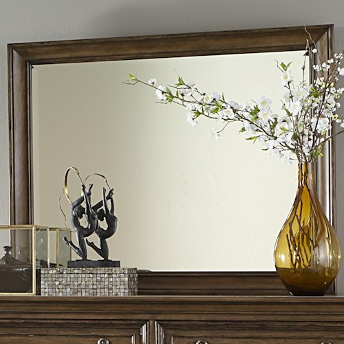 Vendor 5349 Amelia Traditional Dresser Mirror with Wooden Frame