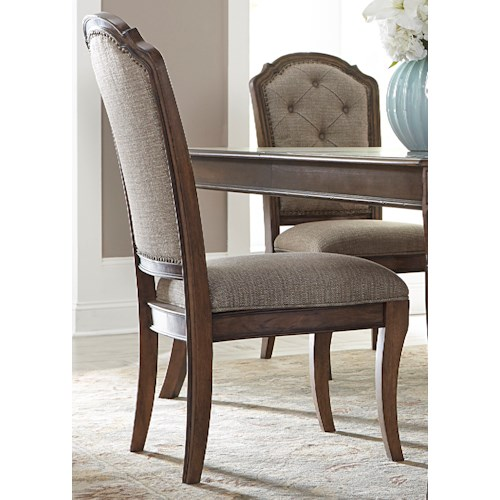 Liberty Furniture Amelia Dining RTA Upholstered Side Chair with Button Tufting