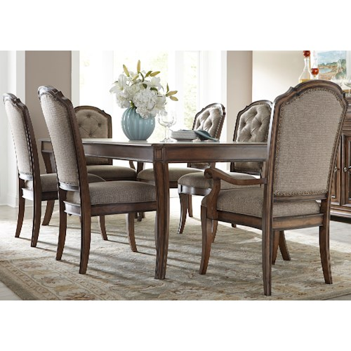 Liberty Furniture Amelia Dining 7 Piece Rectangular Table with 16