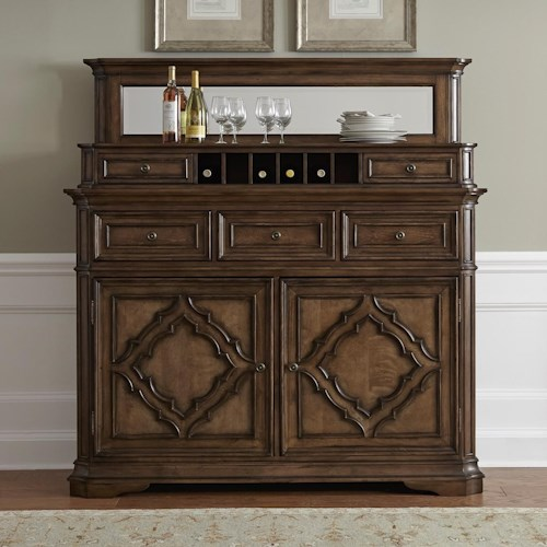 Vendor 5349 Amelia Dining Traditional Server with Hutch