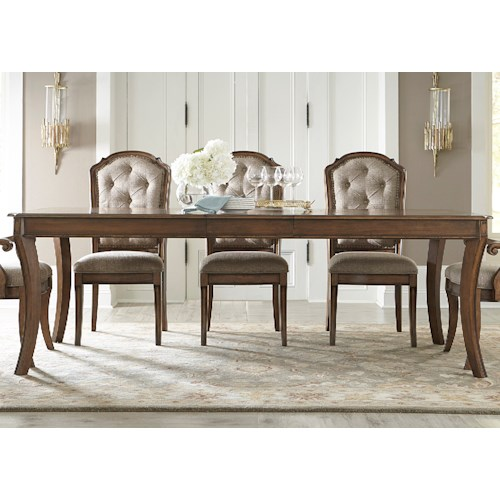 Liberty Furniture Amelia Dining Rectangular Leg Table with 16