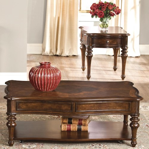 Vendor 5349 Andalusia Three-Piece Cocktail and End Table Set