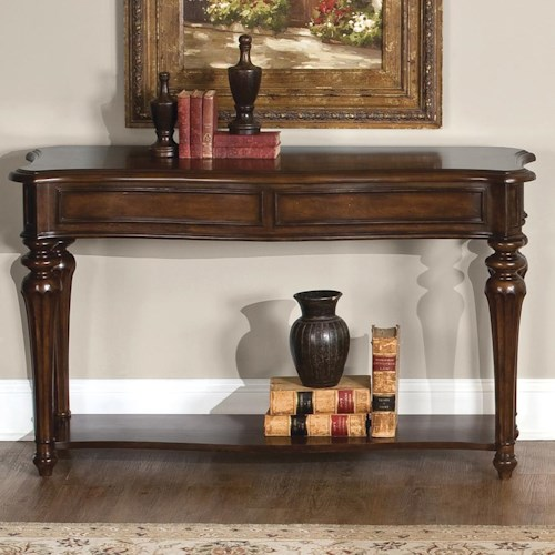 Liberty Furniture Andalusia Traditional Sofa Table with Lower Shelf