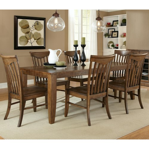 Liberty Furniture Arbor Hills Seven-Piece Rectangular Table with Side Chairs Dining Set