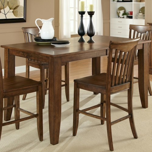 Liberty Furniture Arbor Hills Gathering Height Dining Table with 16