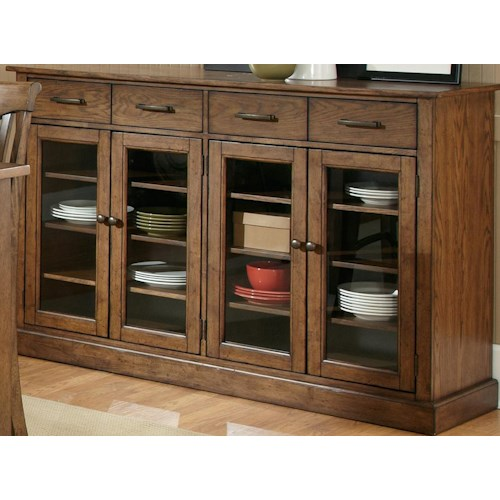 Liberty Furniture Arbor Hills Four Door and Drawer Buffet