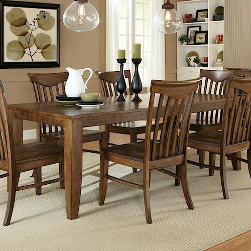 Vendor 5349 Arbor Hills Rectangular Leg Dining Table with 18