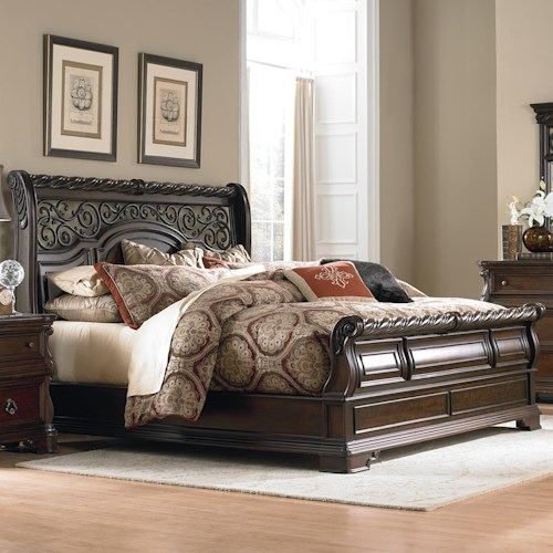 Vendor 5349 Arbor Place Queen Traditional Sleigh Bed