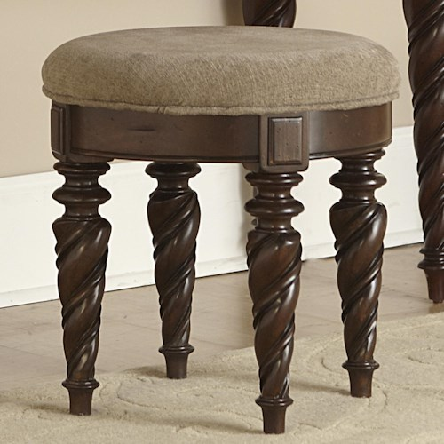Liberty Furniture Arbor Place Vanity Stool with Upholstered Seat