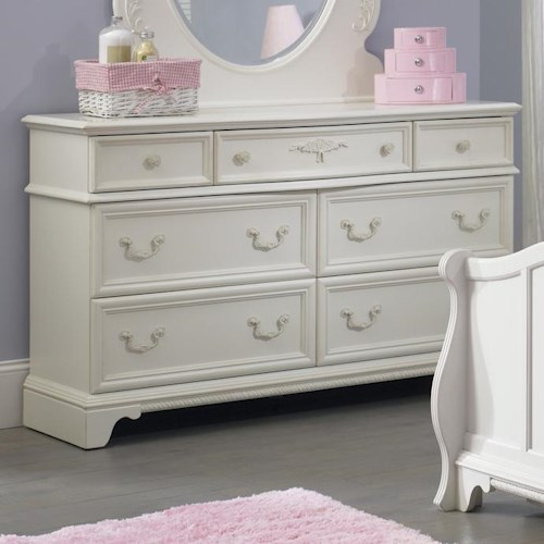 Liberty Furniture Arielle Youth Bedroom 7 Drawer Dresser with Felt Lined Top Drawers