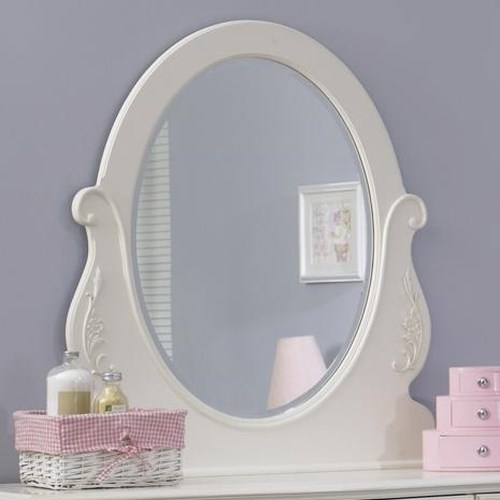 Vendor 5349 Arielle Youth Bedroom Oval Mirror