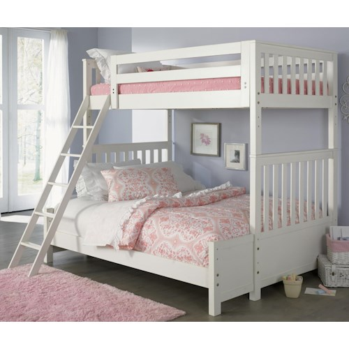 Vendor 5349 Arielle Youth Bedroom Transitional Twin Over Full Bunkbed