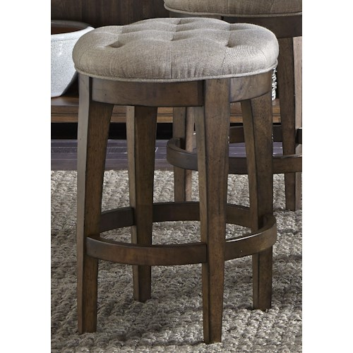 Liberty Furniture Arlington 411 Upholstered Backless Barstool