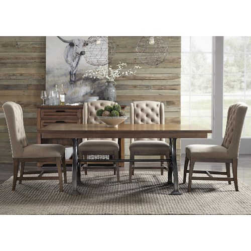 Liberty Furniture Emma 5 Piece Trestle Table and Chair Set