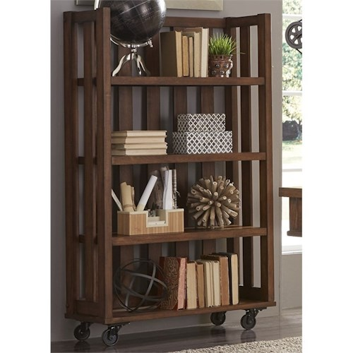 Vendor 5349 Arlington 411 Open Bookcase with Casters