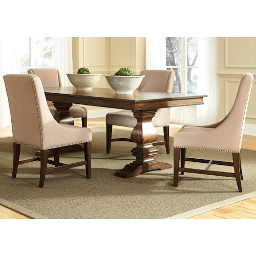 Vendor 5349 Armand 5 Piece Trestle Table Set