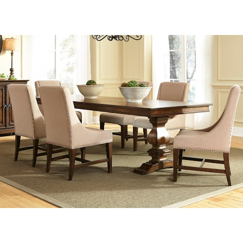 Liberty Furniture Armand 7 Piece Trestle Table Set