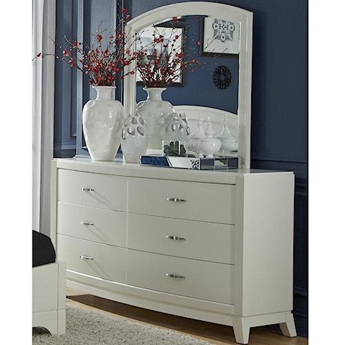 Vendor 5349 Avalon II Dresser & Arch Top Mirror Set