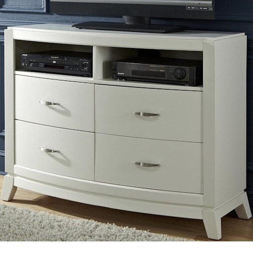 Liberty Furniture Avalon II 4 Drawer Media Chest with 2 Shelves