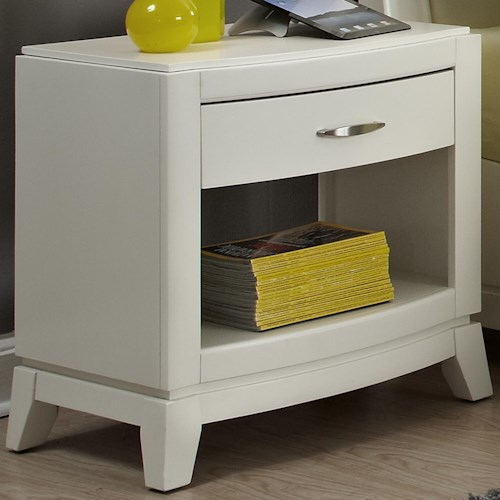 Liberty Furniture Avalon II Night Stand with Drawer and Shelf