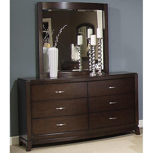 Liberty Furniture Avalon Dresser & Lighted Mirror Set