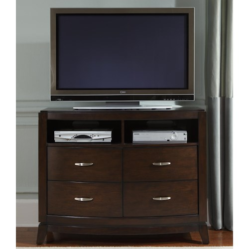 Liberty Furniture Avalon 4 Drawer Media Chest with 2 Shelves