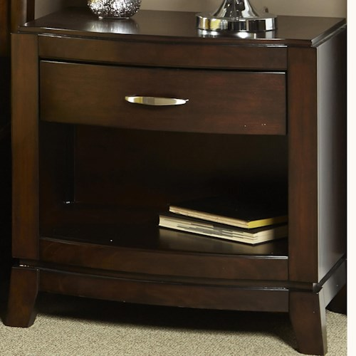 Liberty Furniture Avalon Night Stand with Drawer and Shelf