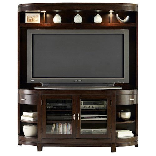 Vendor 5349 Avalon Two-Door TV Stand & Hutch Entertainment Center