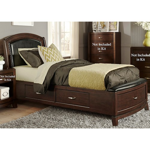 Liberty Furniture Avalon Twin One Sided Storage Bed