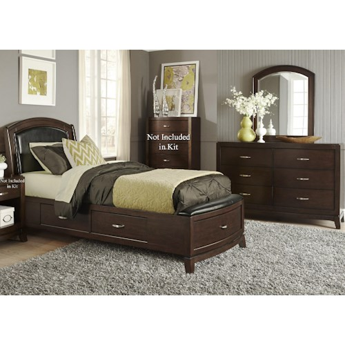 Liberty Furniture Avalon Twin Storage Bedroom Group 1