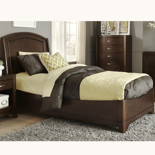 Liberty Furniture Avalon Twin Platform Bed with Arched Headboard