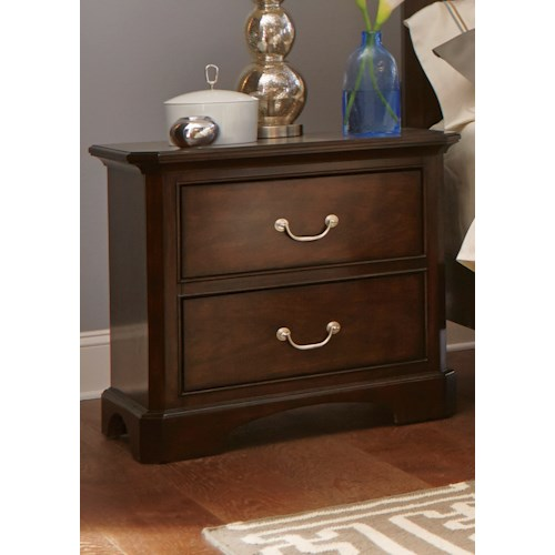 Liberty Furniture Avington 2-Drawer Night Stand with Felt Lined Top Drawer