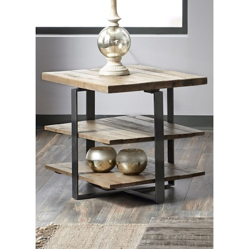 Vendor 5349 Baja Occasional End Table with Two Shelves