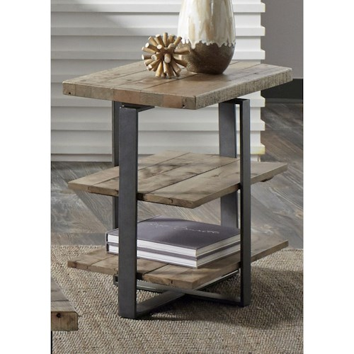 Vendor 5349 Baja Occasional Chair Side Table with Two Shelves