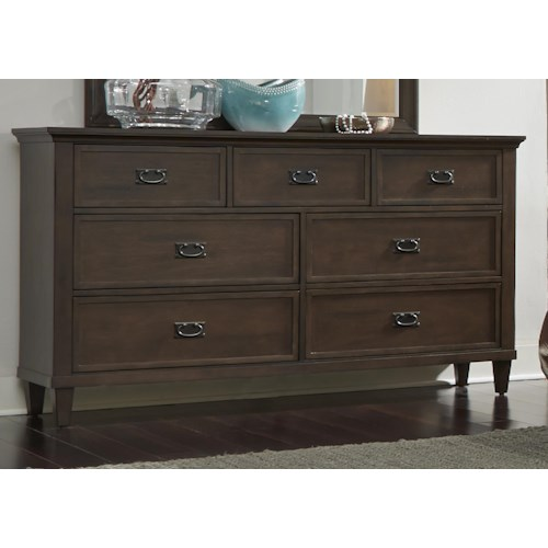 Liberty Furniture Berkley Heights Dresser with Seven Dovetail Drawers