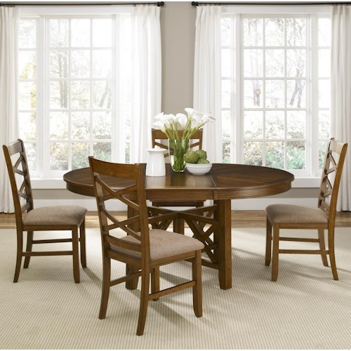 Liberty Furniture Bistro Five Piece Oval Table and Side Chair Dining Set